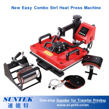 New Design Drawer Combo 5in1 Multi-Functional Heat Press for Sublimation Transfer