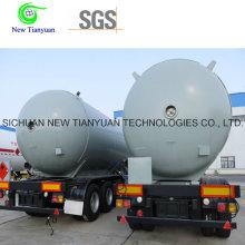 Semi-reboque de tanque de armazenamento líquido líquido de 0,8 MPa de pressão de trabalho