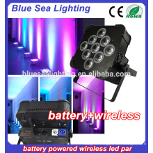 9x18w rgbwa uv 6in1 wireless battery powered led stage lighting