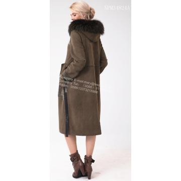Femmes Australie Merino Shearling Long Big Coat