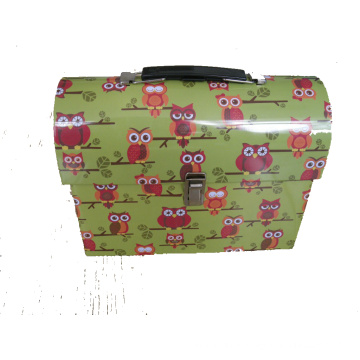 Gift Lunch Tin Box with Handle and Lock-Lunch Tin Box