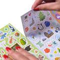 Feuilles de jeu d'assortiment de pack d'autocollants de bande dessinée de variété sans duplication pour enfants