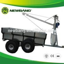 quad bike log trailer with crane