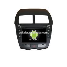 Quad core! Dvd del coche con espejo link / DVR / TPMS / OBD2 para 8 pulgadas de pantalla táctil quad core 4.4 sistema Android PEUGEOT 4008
