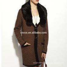 16STC8141 long cardigan pure cashmere coat