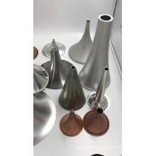 Abat-jour de table en métal noir tournant en métal