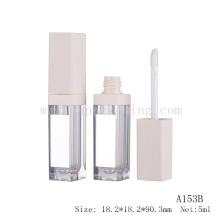 Leere LED Lip Glanz Rohr Verpackung mit Spiegel weißen LED Lip Gloss Container