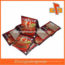 made in china sachet printing plastic snack food packaging with heat sealed side pouch