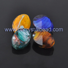 Frosted Oval Loose Crystal beads