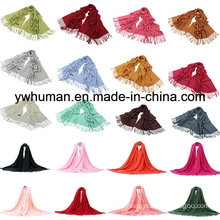 Fashion Pashmina Scarf 24 Solid Colors for Lady