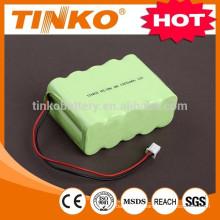 nimh battery size AA 12v 1500mah PVC jacket