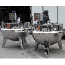 industrial food processing machine electric heating double jacketed soup kettle