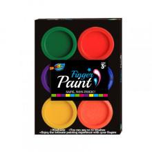 6 colores 22ml s et pintura de dedos