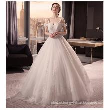 2017 Gorgeous Spaghetti Strap Bowknot Lace Appliqued Open Back Vestido de casamento vestido de bola Online