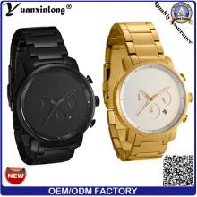 Promotion New Design Stainless Steel Wristband High Quality Chronograph Calendar Date Clock Wristwatch Fashion Businessman Watch