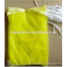Bolsas de malla de la cosecha de la fruta del monofilamento del HDPE del 100% nuevo los 40 * 60cm