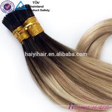 China-Lieferant 100% menschliches Remy vor-gebundenes preiswertes Keratin I Tipp-Haar