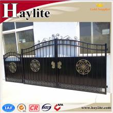 puerta principal para el diseño cuadrado de la puerta del tubo de hierro de las villas