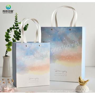 Offset Printing Fashion Eco Friendly Gift Packaging Paper Handbag Shopping Paper Bag