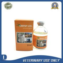 Medicamentos Veterinarios de Inyección de Ivermectina al 3,15% (50ml / 100ml)