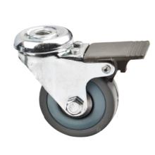 Rouleau en caoutchouc gris de trou de 50 mm avec frein