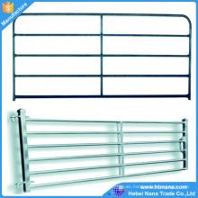 El ganado de ganado galvanizado de la tubería soldada utilizó los paneles de la cerca del corral para el caballo, acero durable de 6 o 5 barras