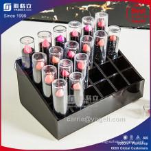 Organisateur de lèvres en acrylique de luxe noir