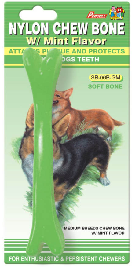 Soft Nylon Chew Bone Mint Scent Medium