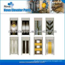 Steel Elevator Door Plate / Lift Door Plate in Mirror Golden