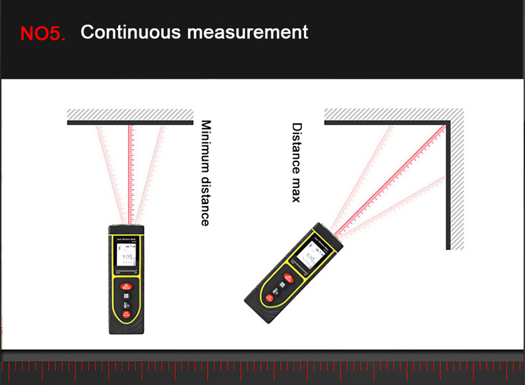How to use 50m Outdoor Laser Distance Measurer to measure