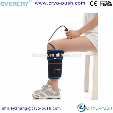 2016 best distributor wanted Pneumatic calf Compression Wrap with Cold Therapy inflatable press by watch or hand