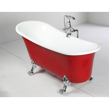 Banheira de imersão acrílica antiga com pé de garra