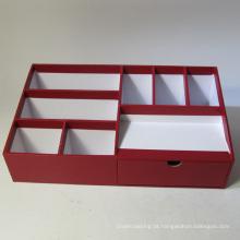 Organizador de papel de escritório multifuncional com gaveta