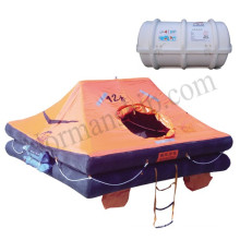 Inflatable yacht life raft 12 person drop type life raft  solas liferaft yacht liferaft
