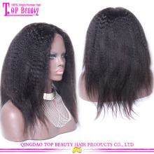 2015 6A novos produtos naturais olhar perverso direto perucas atacado barato excêntrico direto cheia do laço perucas