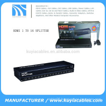 1*16 Ports Hdcp Hdmi Splitter Amplifier Ver 1.4 Metal Box for Full Hd 1080p 3d