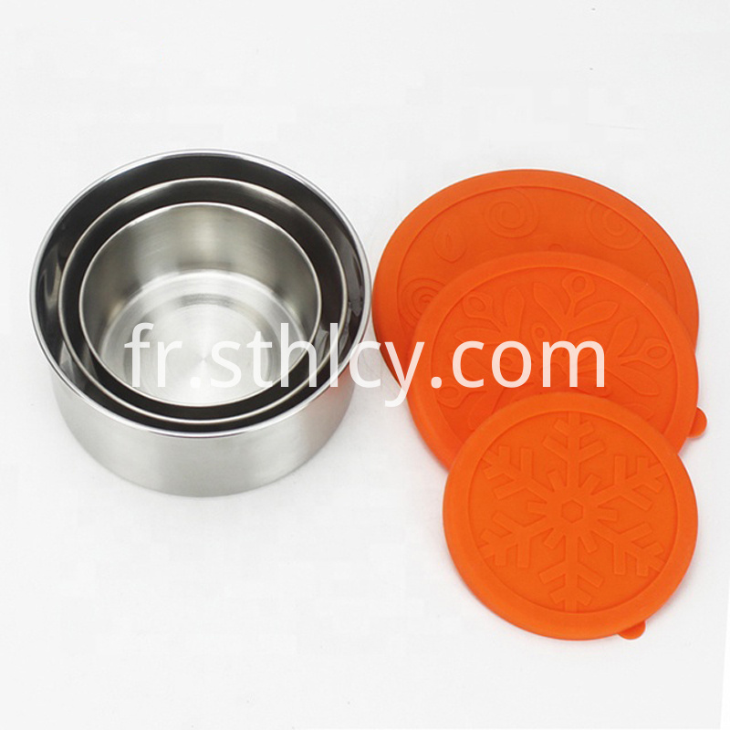 3pcs Lids Stainless Steel Lunch Box