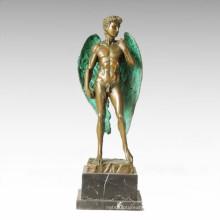 Mythology Statue Winged David Bronze Myth Sculpture TPE-355