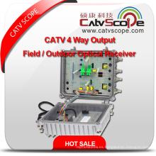 Proveedor profesional de alto rendimiento CATV 4 salidas de campo de salida / receptor óptico al aire libre