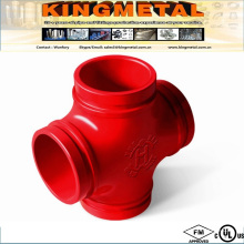 FM UL Grooved Piping System Used Cross by Ductile Iron