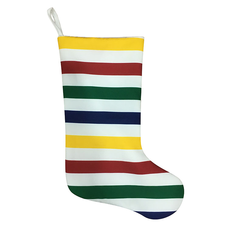 Christmas Stocking With Rainbow Stripe