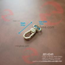 Little Small Swivel Solid Brass Metal Nickel Free Snap Dog Leash Hooks