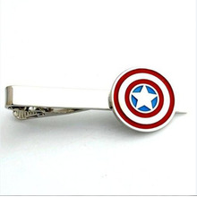 Engravable Captain America Herren Krawatte Bar Clip