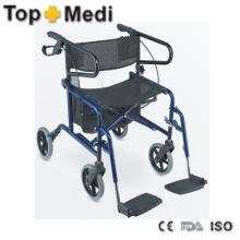 Top Sale Kombination aus Rollstuhl- und Rollator-Design für Ältere
