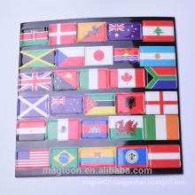custom promotional flag eva paper fridge magnet