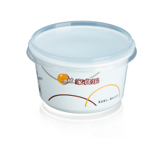 recipiente de alimento plástico descartável quente da venda 480ml com tampa