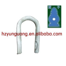 anneau en forme de coeur / fil de haubans lignes aériennes montage / câble clambage