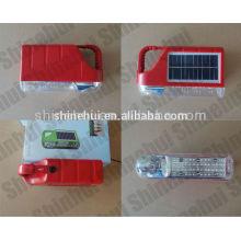Lámpara de mano de plástico grande de energía mini linterna de camping solar de emergencia