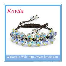 Bijoux fantaisie bracelet rouge shamballa vert vert