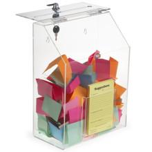 Top Grade Acrylic Donation Box with Lock